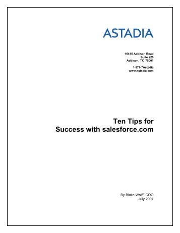 Ten Tips for Success with salesforce.com