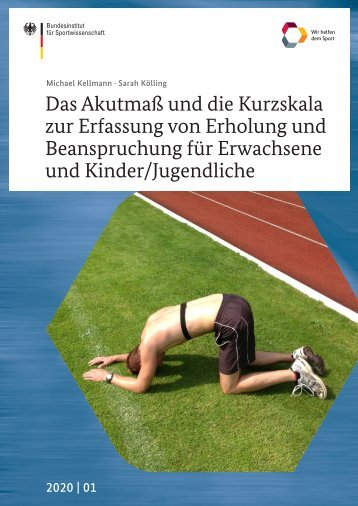 BISp 2020,01 Akutmaß und Kurzskala zur Erfassung von Erholung und Beanspruchung Erwachsene und Kind/Jugendliche