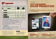2012 December Sales Promotions - Melaleuca Malaysia