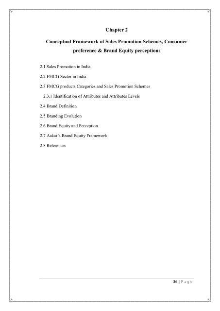 Chapter 2 Conceptual Framework Of Sales Promotion