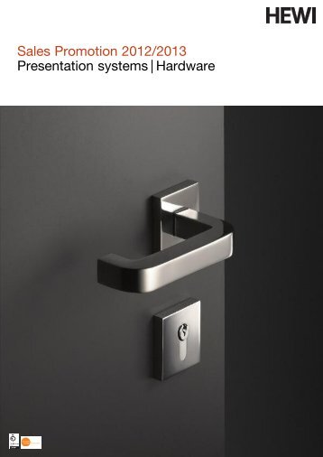 Sales Promotion 2012/2013 Presentation systems   Hardware - HEWI