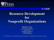 fund raising - University of Pennsylvania School of Social Policy and ...