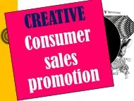 Sales Promotion - Advertising
