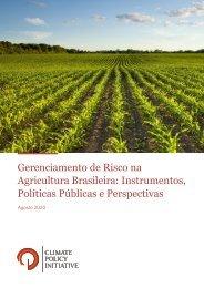 Relatório - Gerenciamento de Risco na Agricultura Brasileira