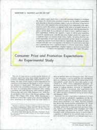 Consumer Price and Promotion Expectations: An Experimental Study