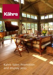 Kahrs Sales Promotion and display 2011