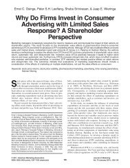 Why Do Firms Invest in Consumer Advertising ... - Boston University
