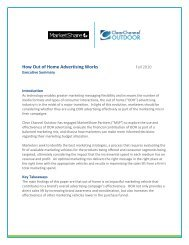 How Out of Home Advertising Works - Clear Channel Outdoor
