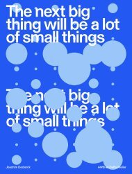 The Next Big Thing Will Be a Lot of Small Things