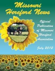 Summer 2012 Newsletter - the Missouri Hereford Association