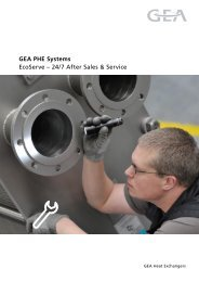 GEA PHE Systems EcoServe – 24/7 After Sales & Service