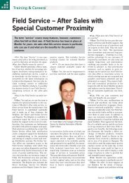 Field Service – After Sales with Special Customer Proximity - Moeller