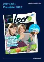 ZEIT LEO+ Preisliste 2013 + - IQ media marketing