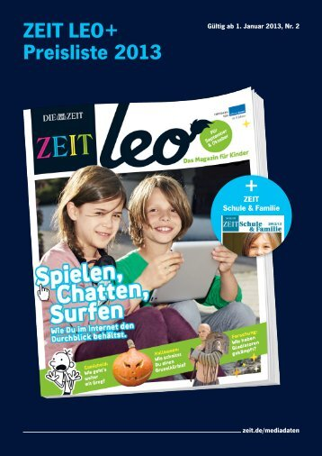 ZEIT LEO+ Preisliste 2013 + - IQ media marketing