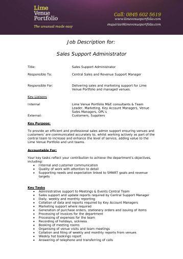 sales administrator job description pdf