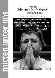 Eine - Welt - Laden - Johannes-Kirchengemeinde Hamburg-Rissen