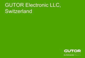 GUTOR Electronic LLC, Switzerland - Gutor Electronic ltd.