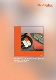 Underfloor trunking system - Electraplan