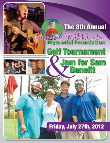 Golf Tournament Jam for Sam Benefit - International Alliance for ...