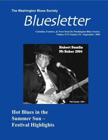 Hot Blues in the Summer Sun – Festival Highlights - Washington ...
