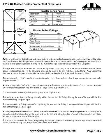 30 39 x 30 39 ets frame tent instructions celina tent. Black Bedroom Furniture Sets. Home Design Ideas