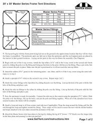 20' x 30' Master Series Frame Tent Directions www ... - Celina Tent