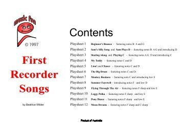First Recorder Songs - Music Fun