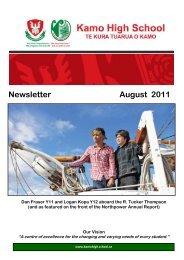 Newsletter August 2011 - Kamo High School