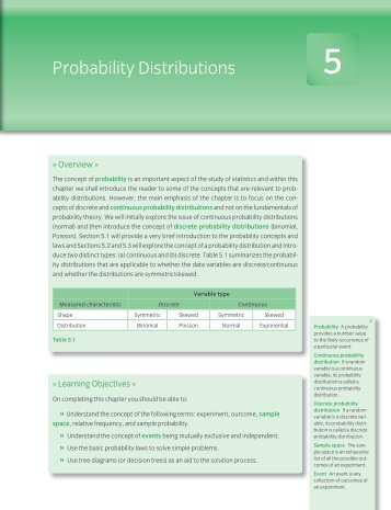Probability Distributions - Oxford University Press