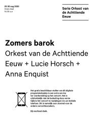 2020 08 30 Orkest van de 18e Eeuw + Lucie Horsch + Anna Enquist