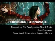 Dimensions CM Configuration Tips & Tricks Sam Doncaster Team ...