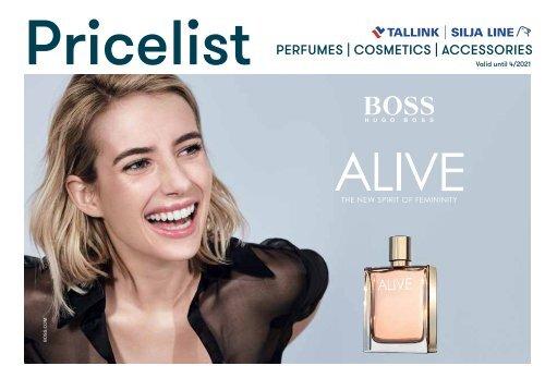Tallink Silja Line perfumes/cosmetics/fashion 9/2020-4/2021 pricelist