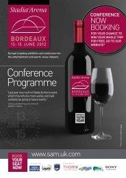Conference Programme - Stadium & Arena Management magazine ...