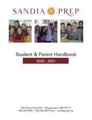 Student Parent Handbook 2020-2021