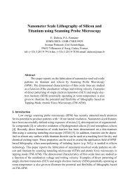 Nanometer Scale Lithography of Silicon and Titanium using ... - Imec