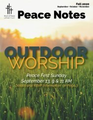 Peace Notes Fall 2020 - Word of Peace Lutheran Church
