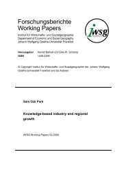 Knowledge-based industry and regional growth - Goethe-Universität