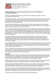 Saigon Asset Management Signs Strategic Agreement with ...