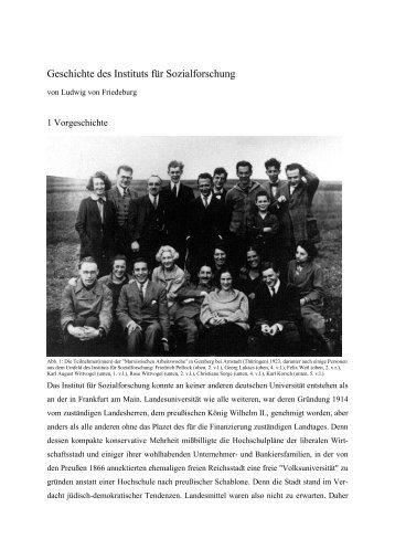 Geschichte des Instituts für Sozialforschung - Institut für ...