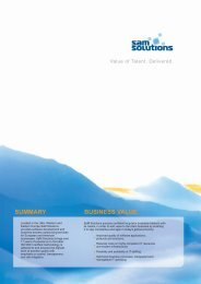 Download company profile - SaM Solutions