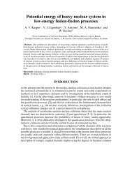 Potential energy of heavy nuclear system in low ... - NRV - JINR