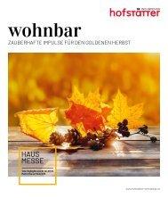 wohnbar Herbst 2020 Hofstätter
