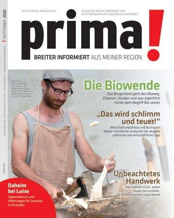 prima! Magazin - Ausgabe September 2020