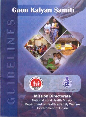 Gaon Kalyan Samiti Guideline - Angul