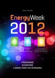 Vaasa EnergyWeek Program - EnergyVaasan