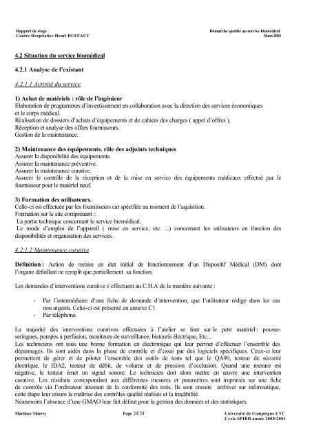 Rapport De Stage Démarch
