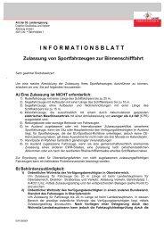 INFORMATIONSBLATT Zulassung von ... - Boote Feichtner