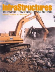 Volume 8, Number 5 • May 2003 - InfraStructures