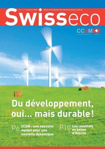 Exé revue CSCM.indd - Chambre de commerce Suisse au Maroc