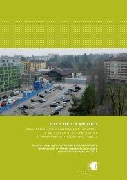 intRoduCtion - Ville de Genève